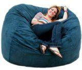 5-feet Navy Cozy Sac Bean Bag Chair Love Seat | Bean Bags Filler