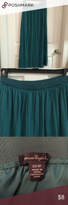 Emerald Green Maxi Skirt American Eagle, size XS. Small pleat details American Eagle Outfitters Skirts Maxi