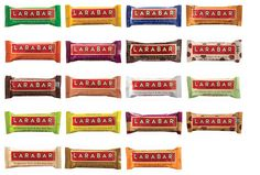 Larabar recipes for pb and j, blueberry muffin, cashew cookie, key lime pie, almond cookie, peanut butter cookie, chocolate coconut macaroon, cherry pie, pecan pie, and cookie dough