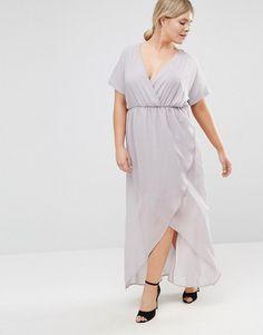 b289e508b5f Truly You Wrap Maxi Dress With Ruffle Detail