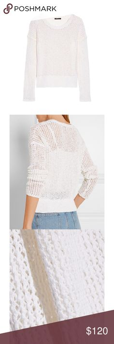 James Perse Waffle Weave Sweater Worn 2-3 times, in outstanding condition! Originally purchased at Bloomingdales as a splurge, I just don't wear it enough to justify keeping it in my closet. A perfectly cozy and cute sweater to give as a gift or to #treatyoself. 😋 part of the proceeds will be donated to a charity of your choice! James Perse Sweaters Crew & Scoop Necks