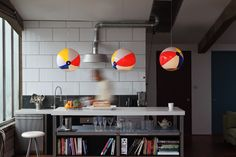 Light Up Your Home With These Summer-Ready Beach Ball Lights by Toby Sanders | 6sqft