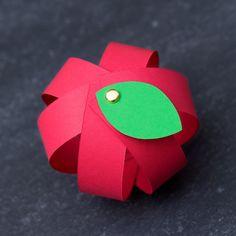 Paper Strip Apple Craft