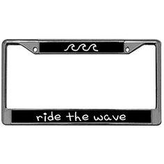 Wave Simple Outline Stainless Steel Car License Plate Frame Holder