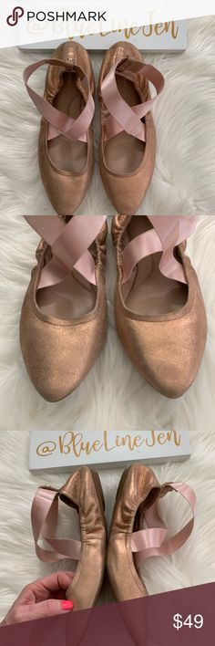 b367e49c4e6 NWOT Taryn Rose Edina Rose Gold Ballet Slippers 👗 new without box. 👗 from  a