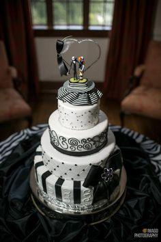 Jack and Sally wedding cake
