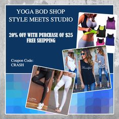 NEW ARRIVALS!!!!  Shop all the latest styles for the yoga studio and beyond! Save 20% on all orders over $25 and FREE SHIPPING! #yoga #fitness #yogabodshop #yogi #tank #shirts #home #leggings     yogabodshop.com