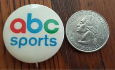Vintage ABC Sports pin pinback button - perfect condition! by CnWsTexasTreasures on Etsy
