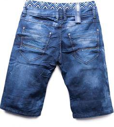 Hombres cortos de mezclilla estiramiento WAIKIKI Nr.1521, Farben:darkblue;Größe-Shorts:W30: Amazon.es: Ropa y accesorios