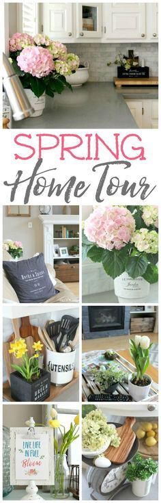 Tips for growing hydrangeas indoors!  Take this beautiful spring home tour for spring decor ideas to inspire you for your own home!
