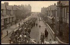 the pals leaving Rhyl North Wales 1914 World War One, North Wales, British Army, World War I
