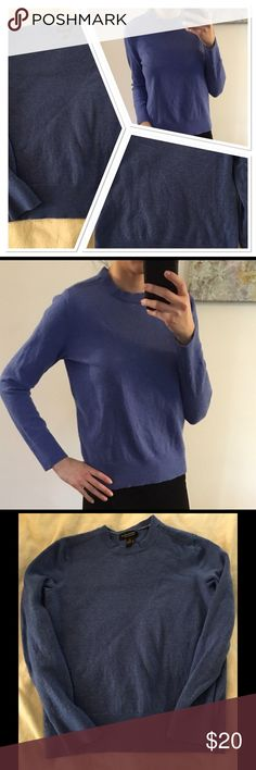 Banana Republic Wool Sweater Extra fine merino sweater. Sleeves go to my wrist so they are not that long. I am 5'5. Looks great with a collared shirt under. Banana Republic Sweaters Crew & Scoop Necks