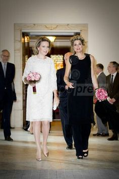 APurn:newsml:dpa.com:20090101:160526-99-77713 Queen Maxima attends invitation of Queen Mathilde 26/5/2016