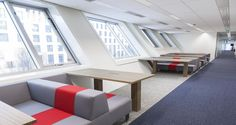 Collaborative area into PSG's offices in Boulogne, France