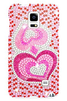 "myLife Pink + Red + White Powerpuff Girl Hearts {Bling, Rhinestones, and Cute} 2 Piece Snap-On Rubberized Protective Faceplate Case for the Samsung Galaxy Note 4 ""All Ports Accessible"" myLife Brand Products http://www.amazon.com/dp/B00U4BM3LE/ref=cm_sw_r_pi_dp_1Eyhvb0Q1KXNV"