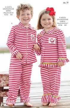 Shrimp and Grits Kids Fall 15'' Catalog Wilson kids Christmas pjs!