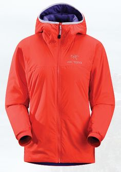 Brand: Arc'terix.  Product: Atom LT Hoody.  Color: Red  Comments: Perfect in winter during high level activity and all year round when you reach the summit. Really light and easy to pack.