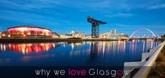 It's Why We ♥ Glasgow Wednesday so this week we're sharing a night scene of the bonnie River Clyde featuring the SSE Hydro, Finnieston Crane & Clyde Arc bridge taken by our fan Stephen Taylor!