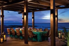 Private Dining At Ulu Makai Lanai Sunset A Partially Covered Indoor Outdoor