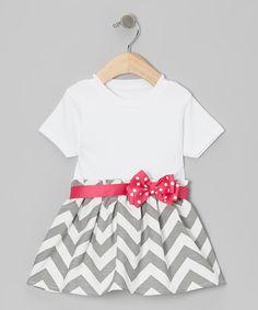 Chevron Bow Dress
