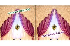 We are manufacturer and exporter for any type of wedding temple backdrop curtain drapes.