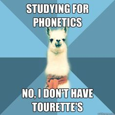Hahaha. Only those who have taken a Phonetics course would get this.