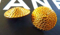 Pulsanti di CHANEL, autentico, molto rari, Vintage, tono oro, Logo CC, corda Design, firmato, scegli la quantità