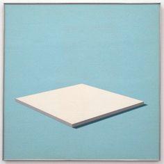 "Daan van Golden (b.1936), ""White Painting,"" 1966.  Gloss paint on canvas on framed panel, 100 x 100cm"