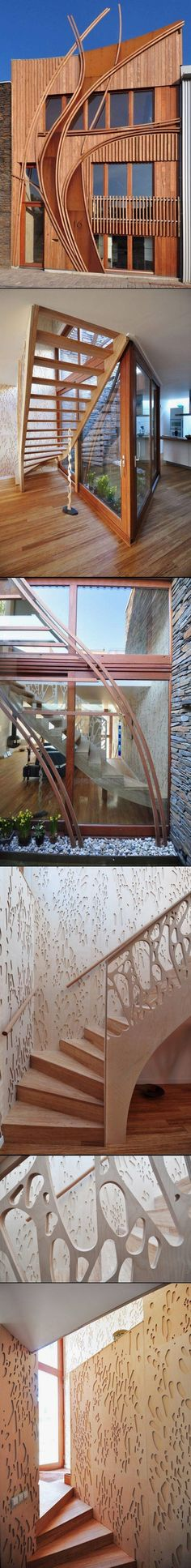 Great House With Stylish Wooden Facade And Stunning Interior By 24H Architects |  Http://