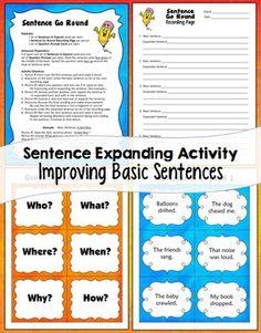 SENTENCE WRITING - TeachersPayTeachers.com