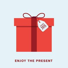 'Enjoy the present' by Punny Pixels, an illustrated series of visual puns.