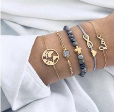 Buy Ckysee Bohemian Map Heart Turtle Charm Bracelets Set Bangles For Women Fashion Crystal Beads Bracelet Party Jewelry Tassel Bracelet, Strand Bracelet, Bracelet Set, Bangle Bracelets, Diamond Bracelets, Silver Bracelets, Layered Bracelets, Bangle Set, Bracelets With Charms
