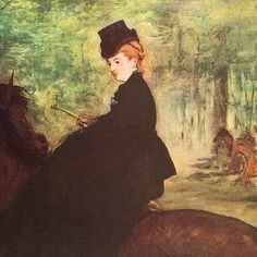 The Horsewoman, 1875, by Edouard Manet