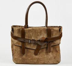 Reed Krakoff Taupe And Brown Handbag | VAUNTE
