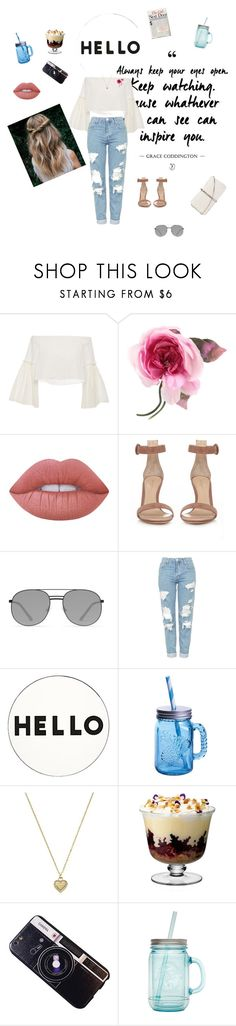 """"""":."""" by netvett ❤ liked on Polyvore featuring Rosetta Getty, Gucci, Lime Crime, Gianvito Rossi, Elizabeth and James, Topshop, Lisa Perry, Fitz & Floyd, Michael Kors and LSA International"""