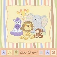 Zoo Crew - Personalized Baby Shower Sticker Labels - 24 ct | BigDotOfHappiness.com