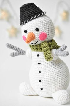 PATTERN Martin the Light-hearted snowman amigurumi #crochet #crafts