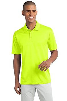 SWUtm Mens Performance Golf Polo Large Neon Yellow -- Check out the image by visiting the link.