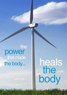 The #power that made the #body... #heals the body.