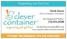 Love my new #clevercontainer business card!
