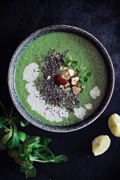 Broccoli Detox Soup - Be kind to your liver (the master of your metabolism!) with this gorgeous green soup -- loaded with potassium, soluble and insoluble fiber to help flush out toxins. Great for Maintenance, or omit the seeds and coconut oil/milk for Phase 1.
