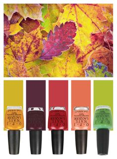 """Fall Leaves"" by pink1princess ❤ liked on Polyvore featuring beauty and OPI"