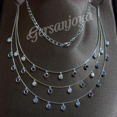 Collar Geisha. excelente collar, sencillo, elegante y bonito. engarzado con zafiros, rubíes circonitas
