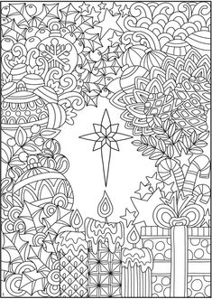Welcome to Dover Publications Creative Haven Entangled Christmas Coloring Book Easter Coloring Pages, Printable Adult Coloring Pages, Christmas Coloring Pages, Colouring Pages, Coloring Sheets, Coloring Books, Free Coloring, Christmas Colors, Christmas Crafts