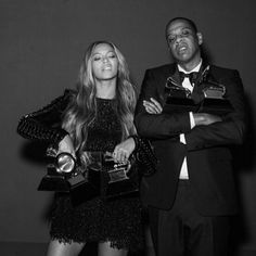 Beyoncé and Jay Z Pose For a Cute Couples' Photo Shoot Backstage at the Grammys