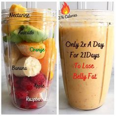 Fruit Smoothie Recipes, Easy Smoothies, Smoothie Diet, Green Smoothies, Healthy Detox, Healthy Juices, Healthy Drinks, Healthy Weight, Healthy Food