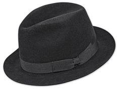 Velluto Nero Qualität, schmale Krempe, Ripsband, Innenfutter, Leder-Schweissband, Metallabzeichen Hats, Fashion, Felt Hat, Badge, Metal, Moda, Hat, Fashion Styles, Fashion Illustrations