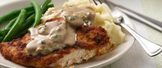 Satisfy gravy cravings with a 30-minute dinner take using chicken breasts.