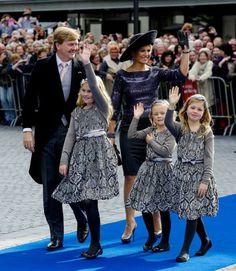 Koninklijk gezin bij huwelijk Jaime en Viktoria