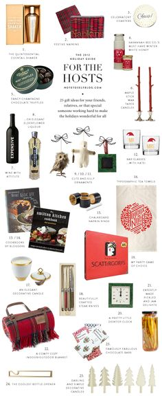 Great host gift ideas for all of those holiday parties|Holiday Guide: 25 Gifts for the Hosts| via Note to Self